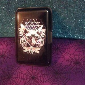 Handbags - Gothic occult cat wallet